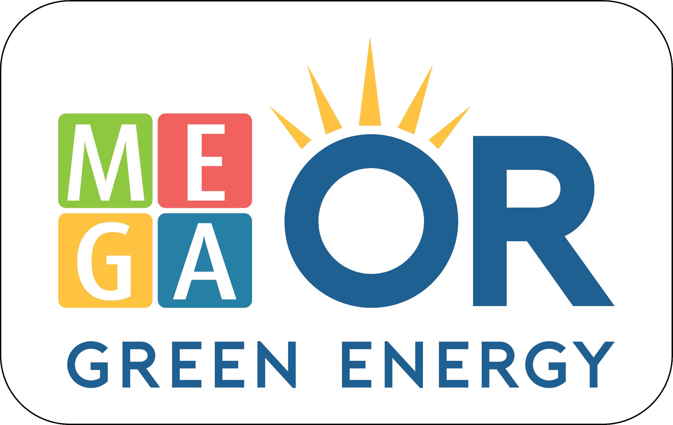 """לוגו אנרגיה ירוקה של מגה אור החזקות בע""""מ"""
